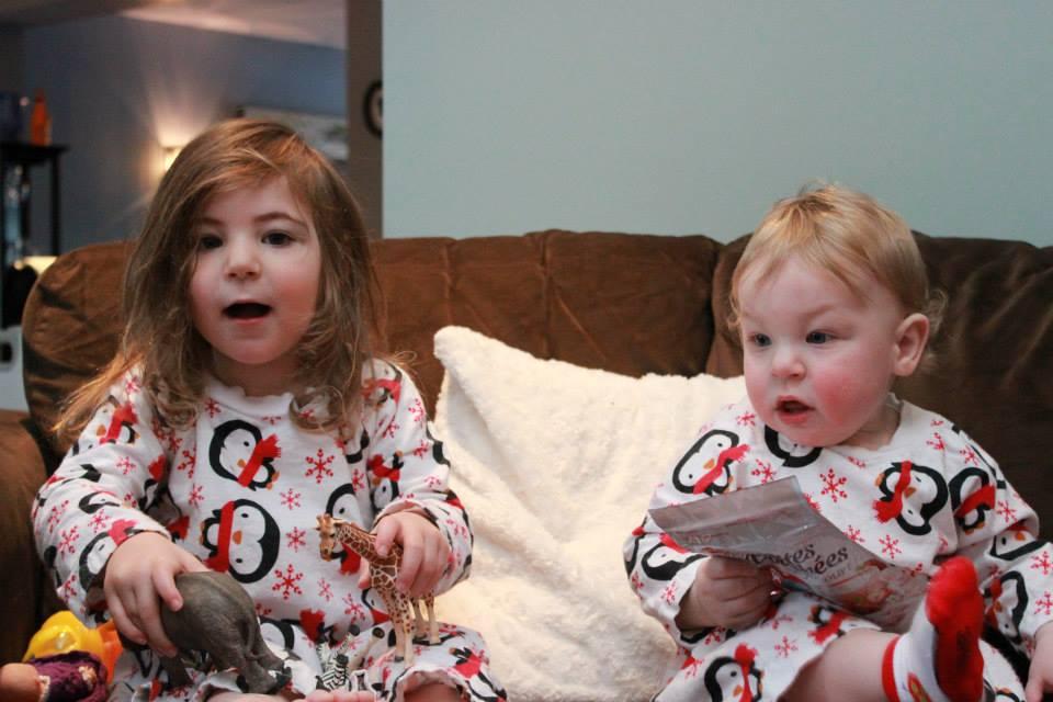 Christmas morning with the kiddos, 2013